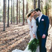 Styled wedding shoot in the woods