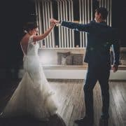 Bride and groom have a private first dance
