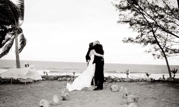 A beachside wedding