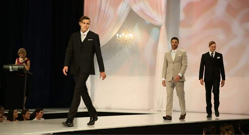 Groom style at the QB wedding expo fashion parade.
