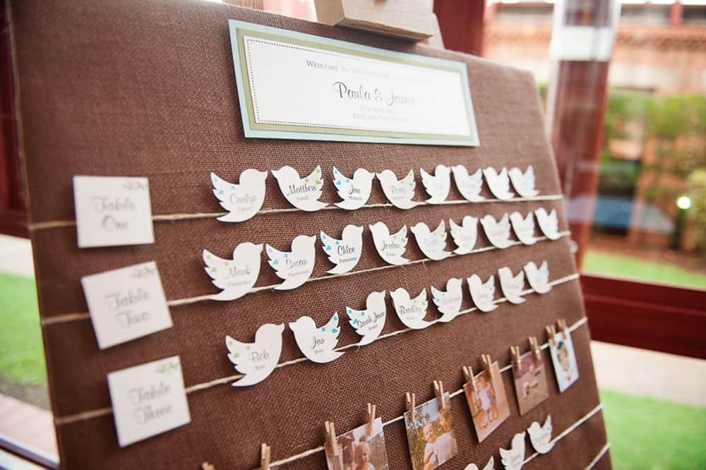 Wedding seating plan by Christopher Thomas Photography