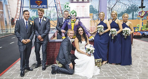A Warner bros. Movieworld Wedding