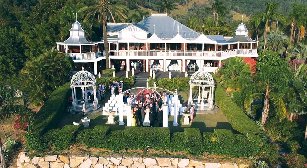 Wedding ceremony at Glengariff Historic Estate