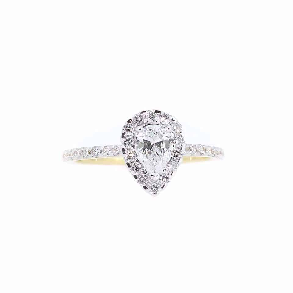The 'pear' shaped diamond ring