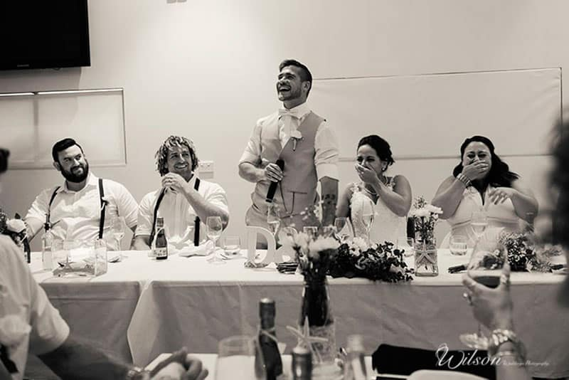 Wedding speeches! By Wilson Wedding Photography