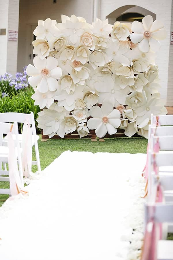 beautiful flower ceremony backdrop