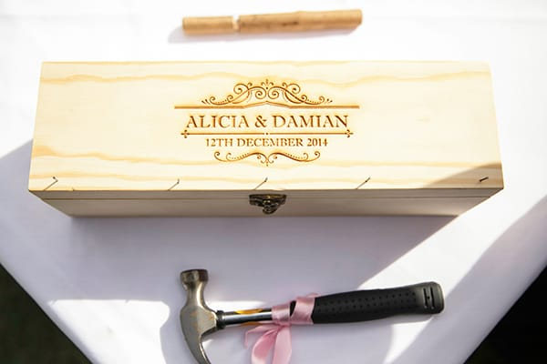 Celebration gift for the wedding of Alicia & Damian