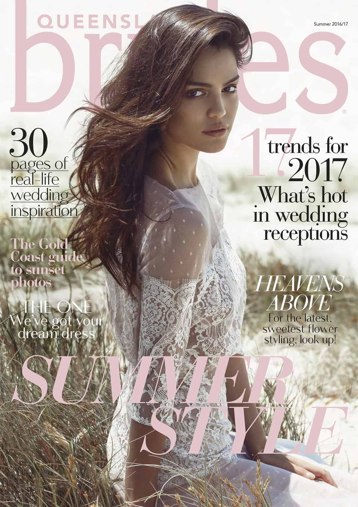 Queensland Brides Summer 16-17 front cover