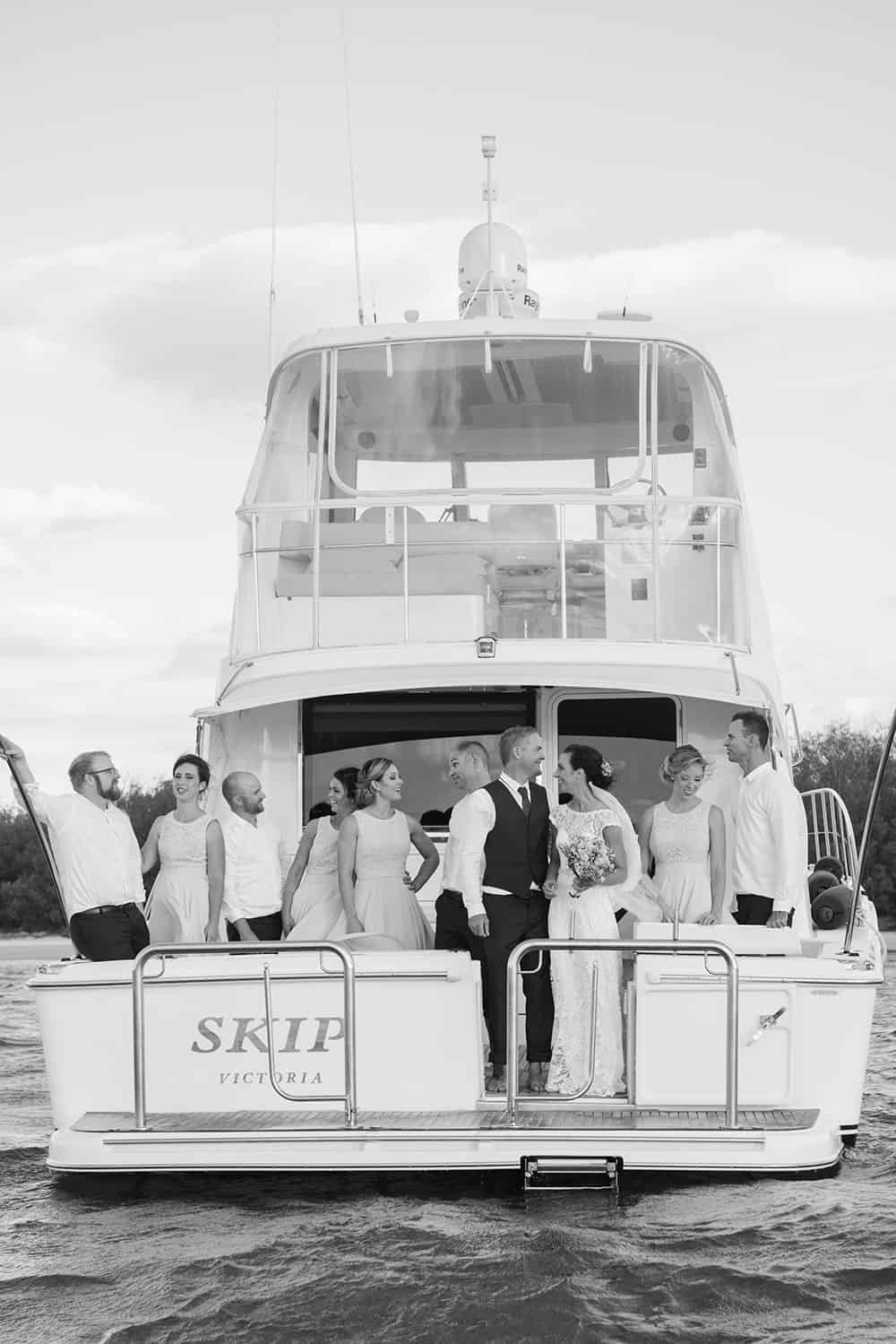 boat transfer to wedding