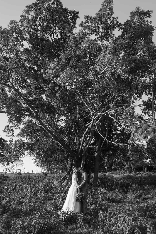 black and white image of wedding couple