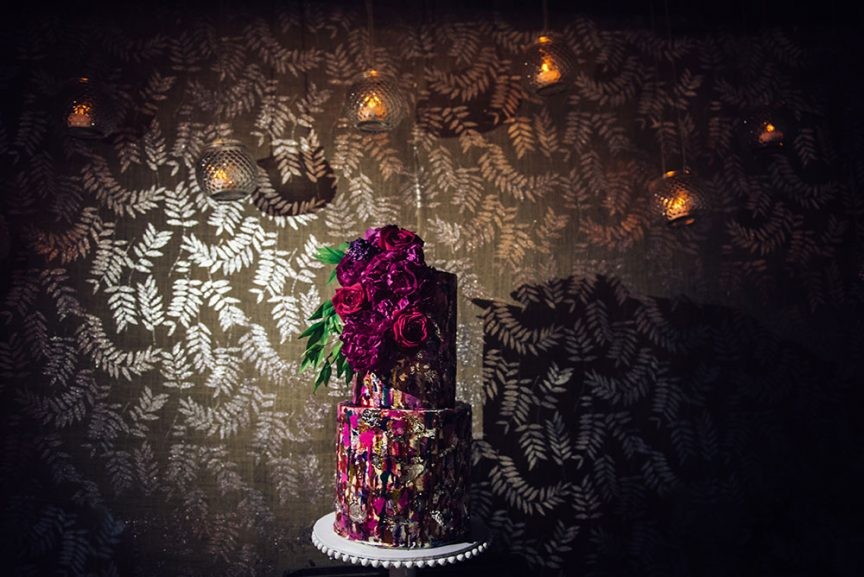 Delicious turkish delight wedding cake