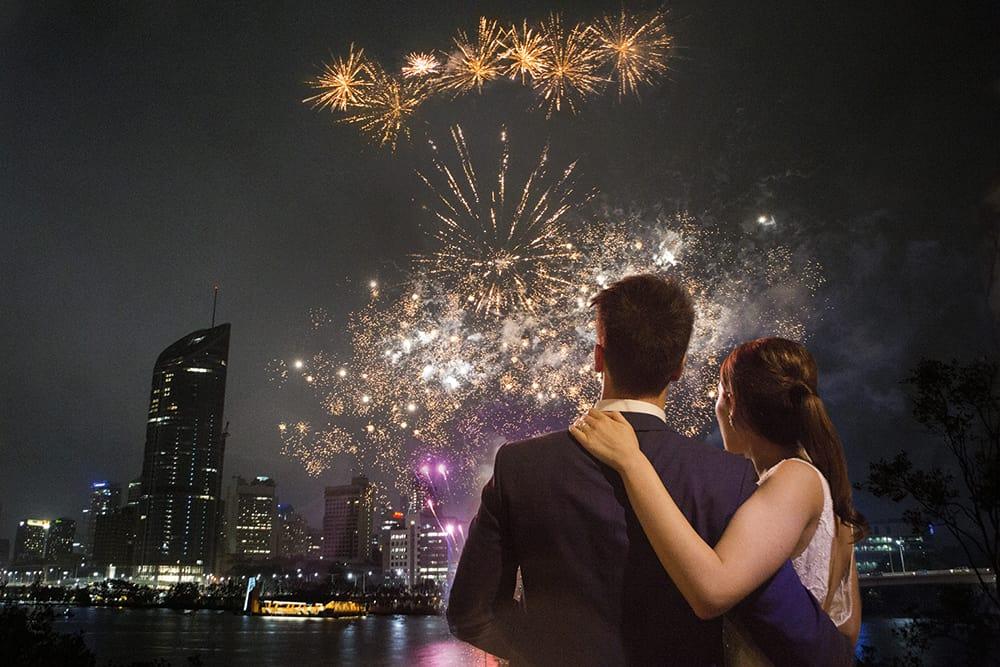 Sarah + Billy fireworks