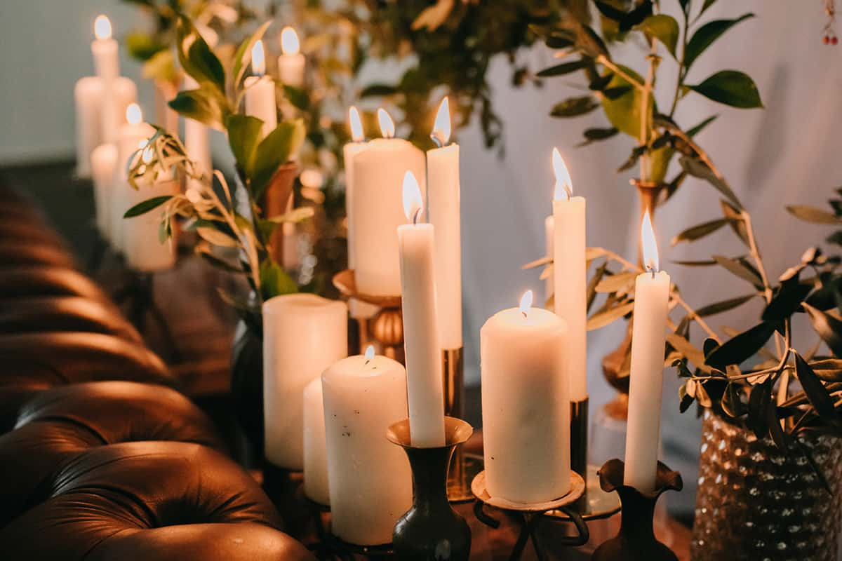 beautiful candles for weddings