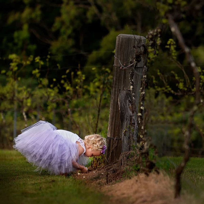 Little flower girl at wedding by Christopher Thomas Photography