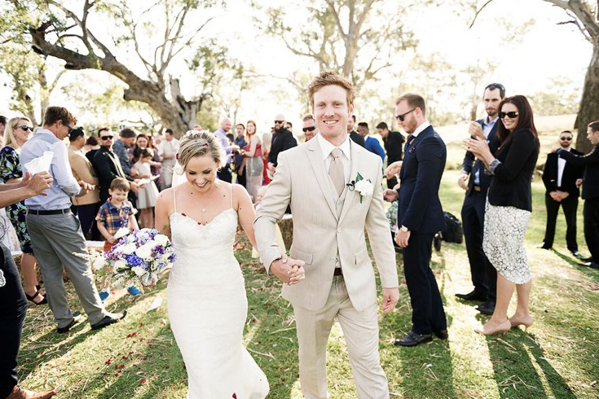 happy wedding couple by Christopher Thomas Photography