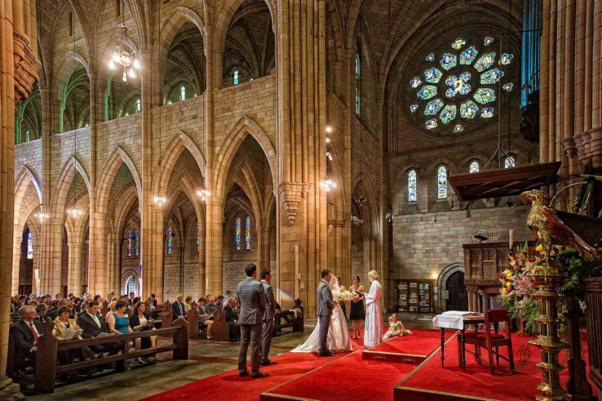 wedding couple in Brisbane church