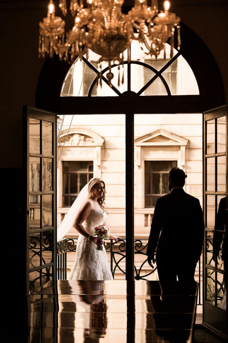 wedding couple by Christopher Thomas Photography