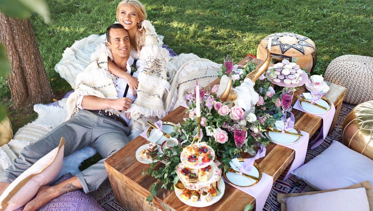 Lavender boho luxe