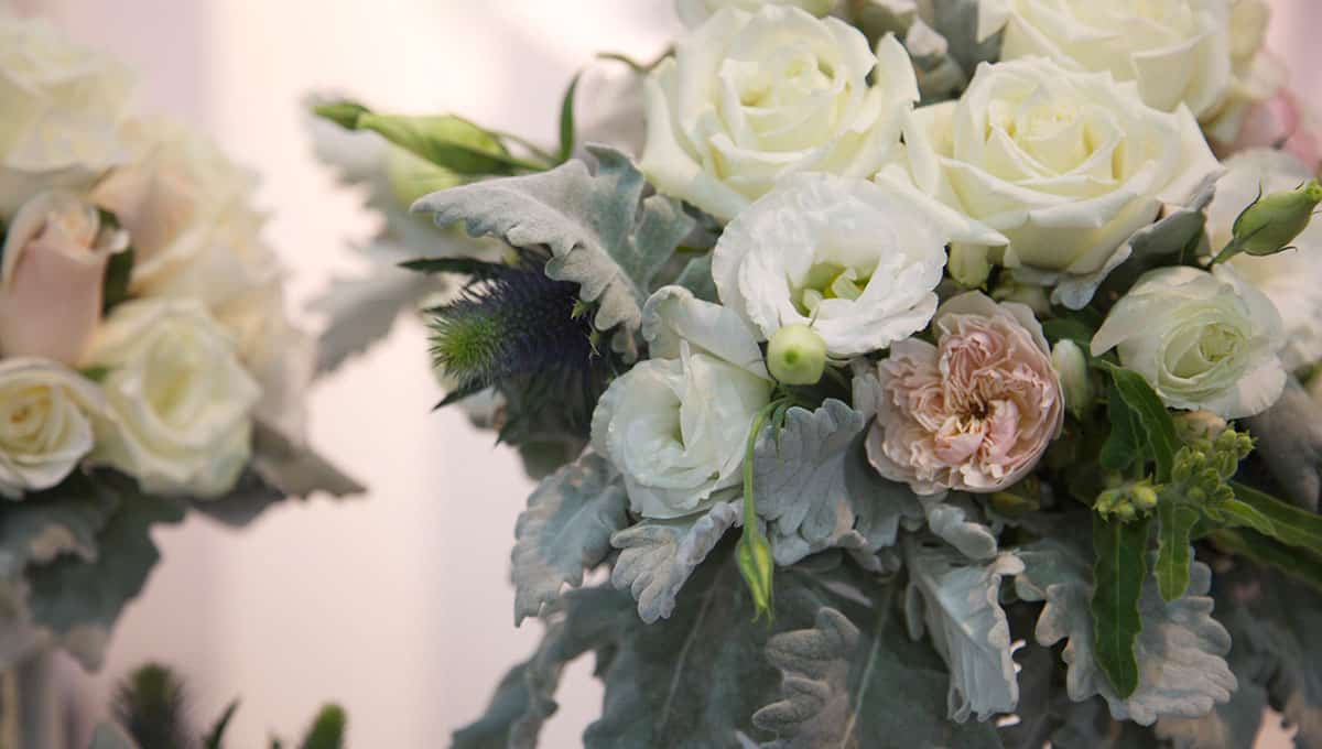 flowers at wedding expo