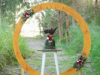 floral arbour for a woodland wedding