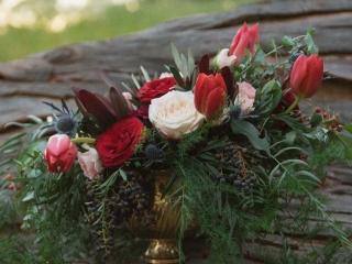 florals for a woodland wedding