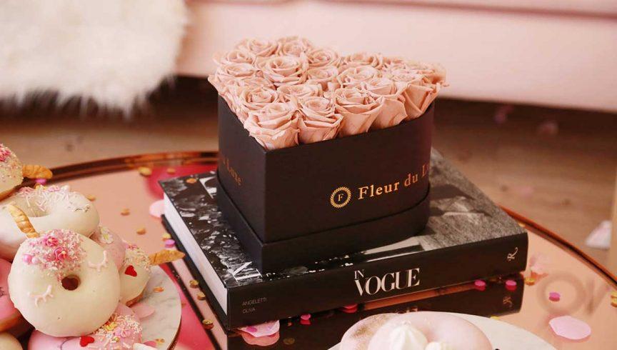Fleur du Luxe heartshaped box