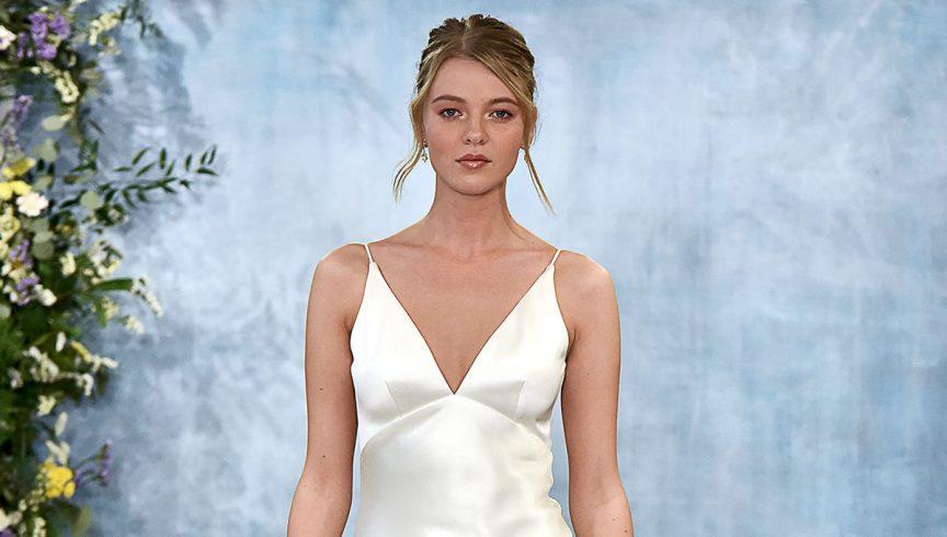 Theia slip-style dress