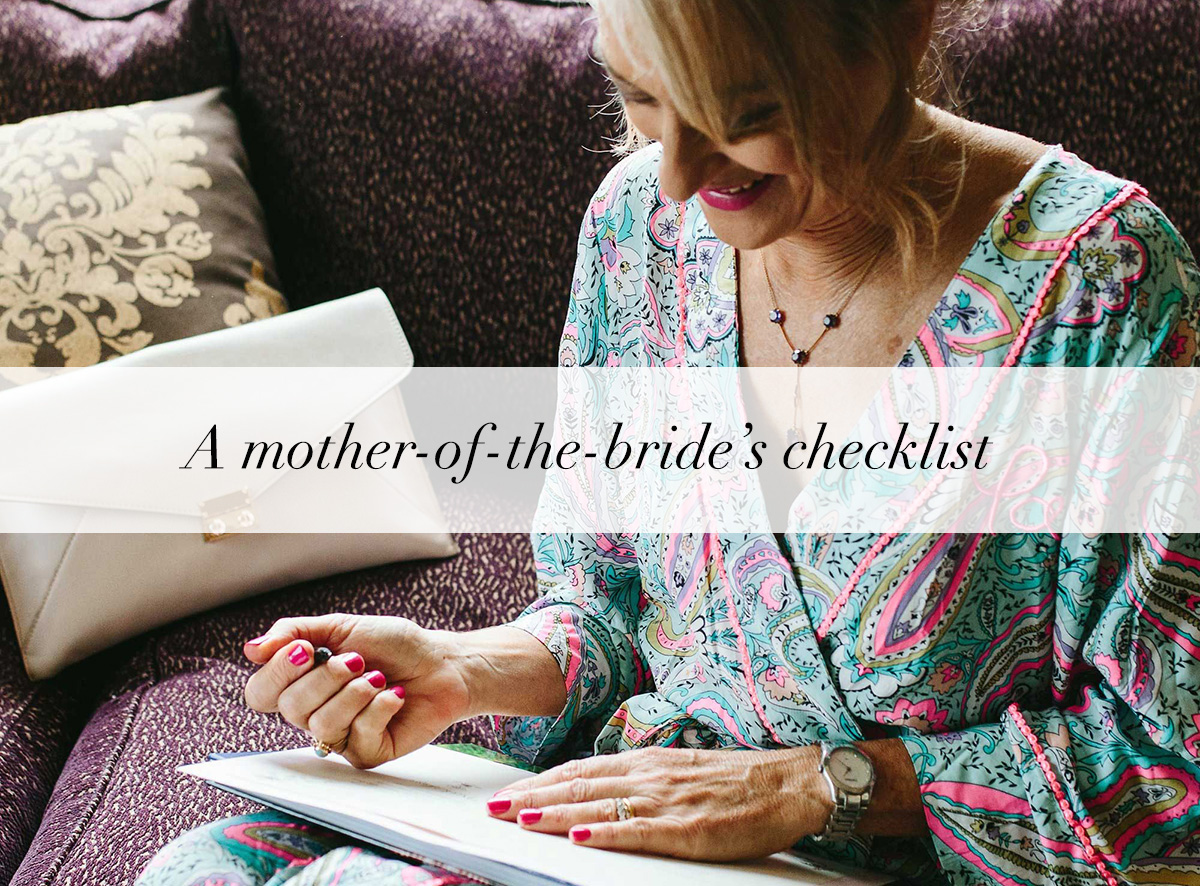 Mother of the bride checklist