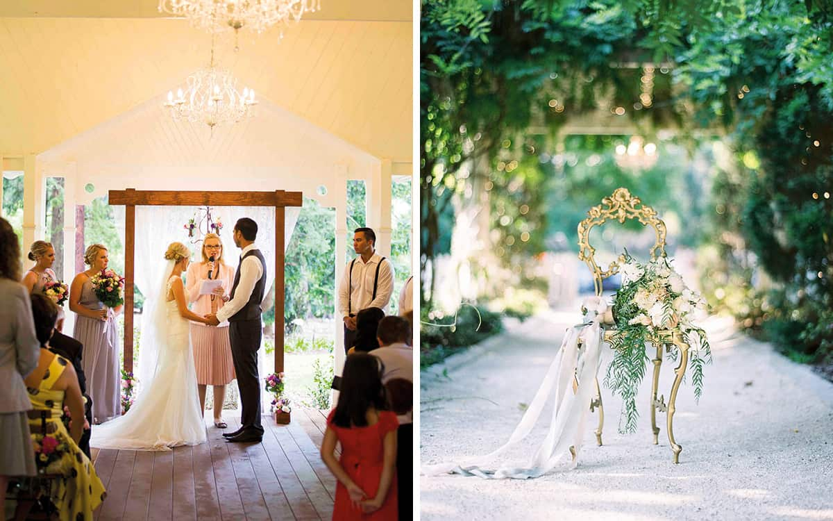 A Little Bliss Events ceremony arbour and chair