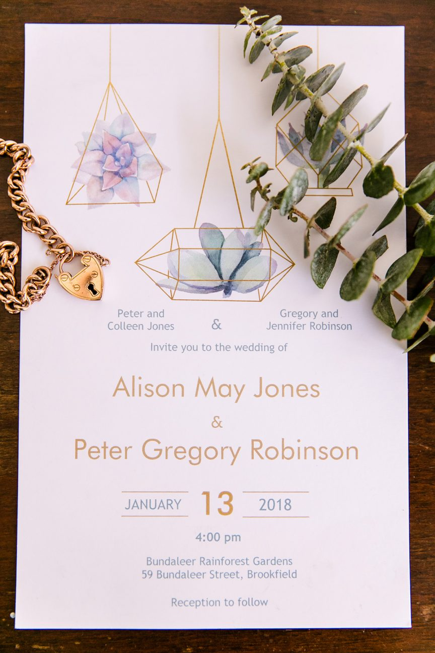 Wedding of Alison + Peter
