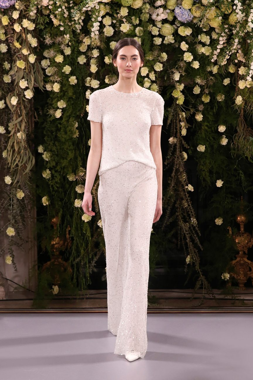 Jenny Packham Flori Fleur top and trousers