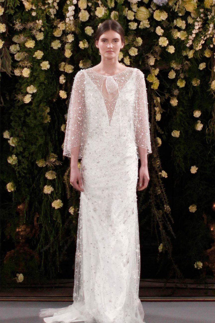 Jenny Packham Moonflower and Meadow gown and cape