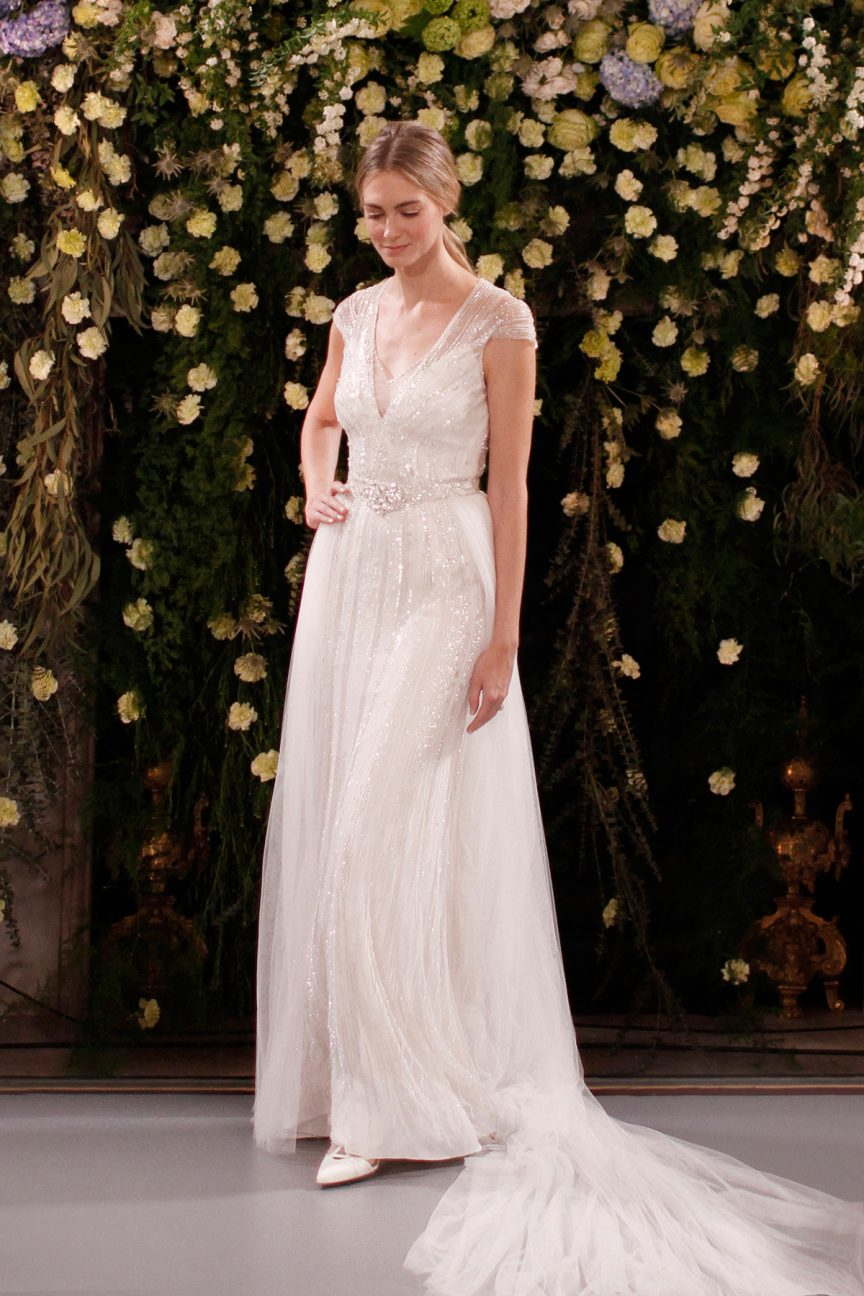 Jenny Packham Amber and Ally gown and overskirt