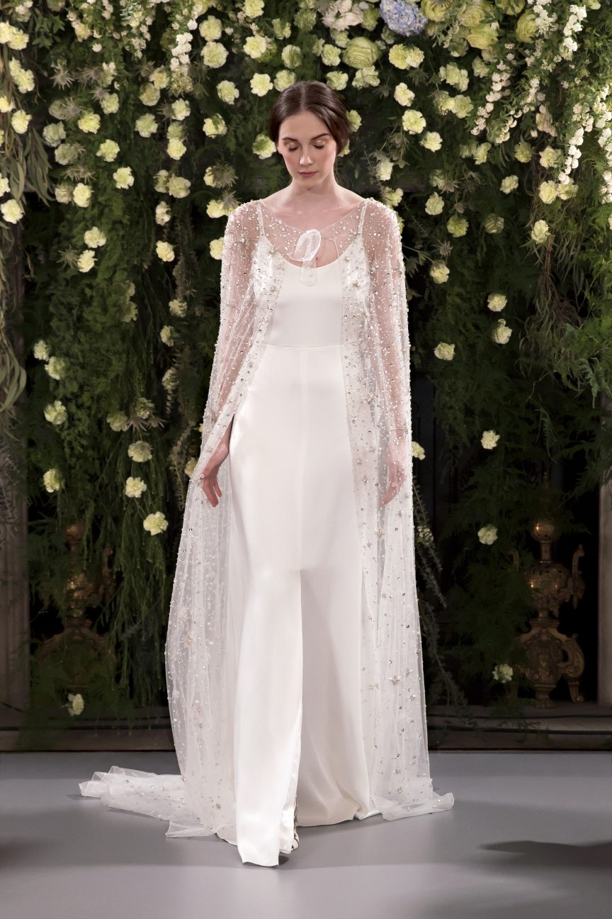 Jenny Packham Acacia and Crystal cape and slip