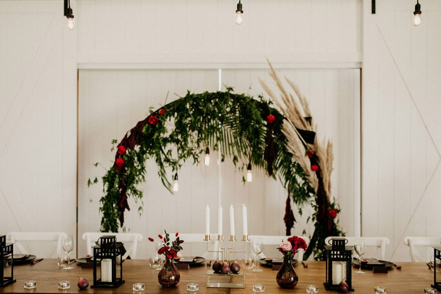 circle arbour wedding reception