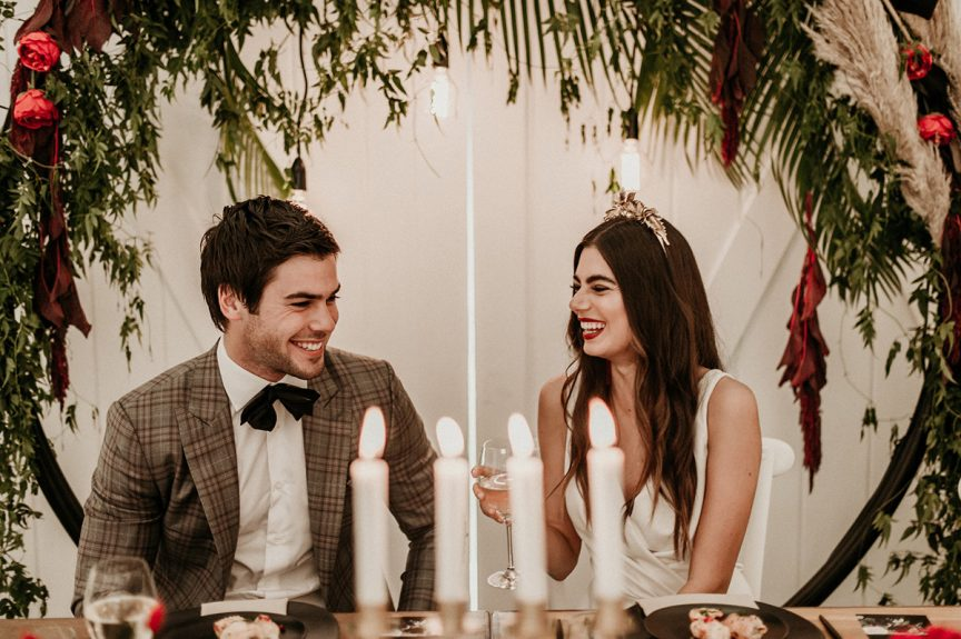 wedding couple at Summergrove Estate