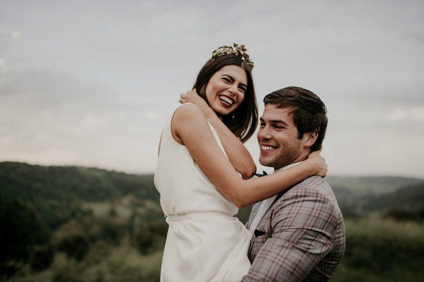 happy wedding couple at Summergrove