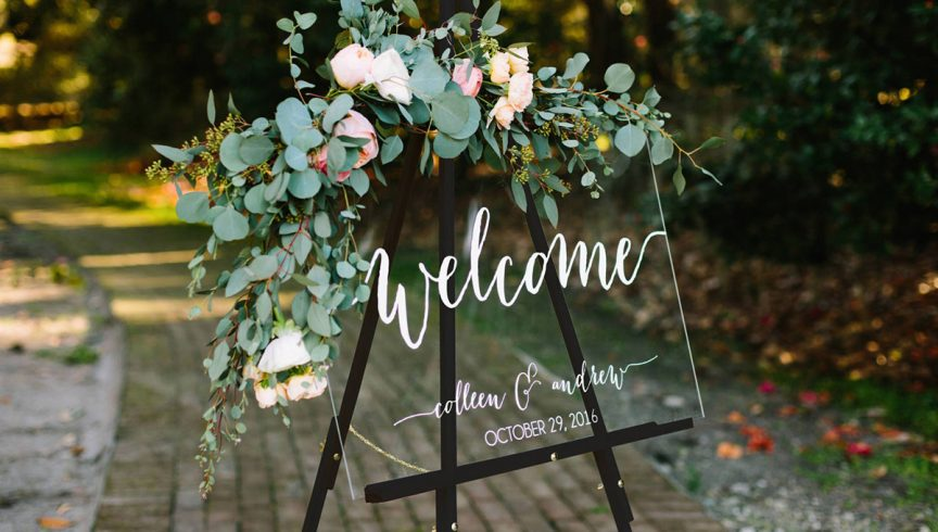 Sourced via https://www.etsy.com/au/listing/507522450/wedding-welcome-sign-wedding-signs