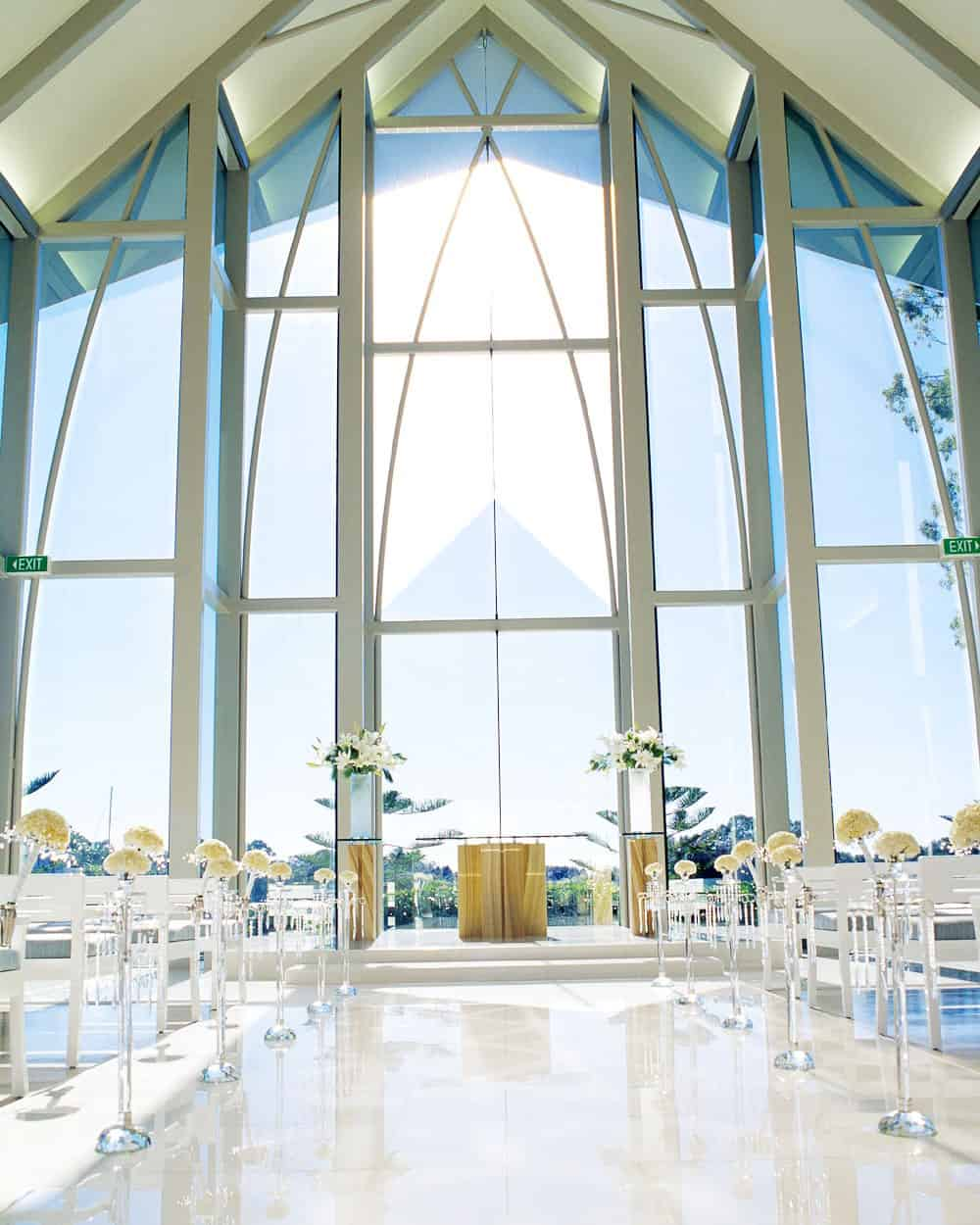 glass chapel at Intercontinental Sanctuary Cove