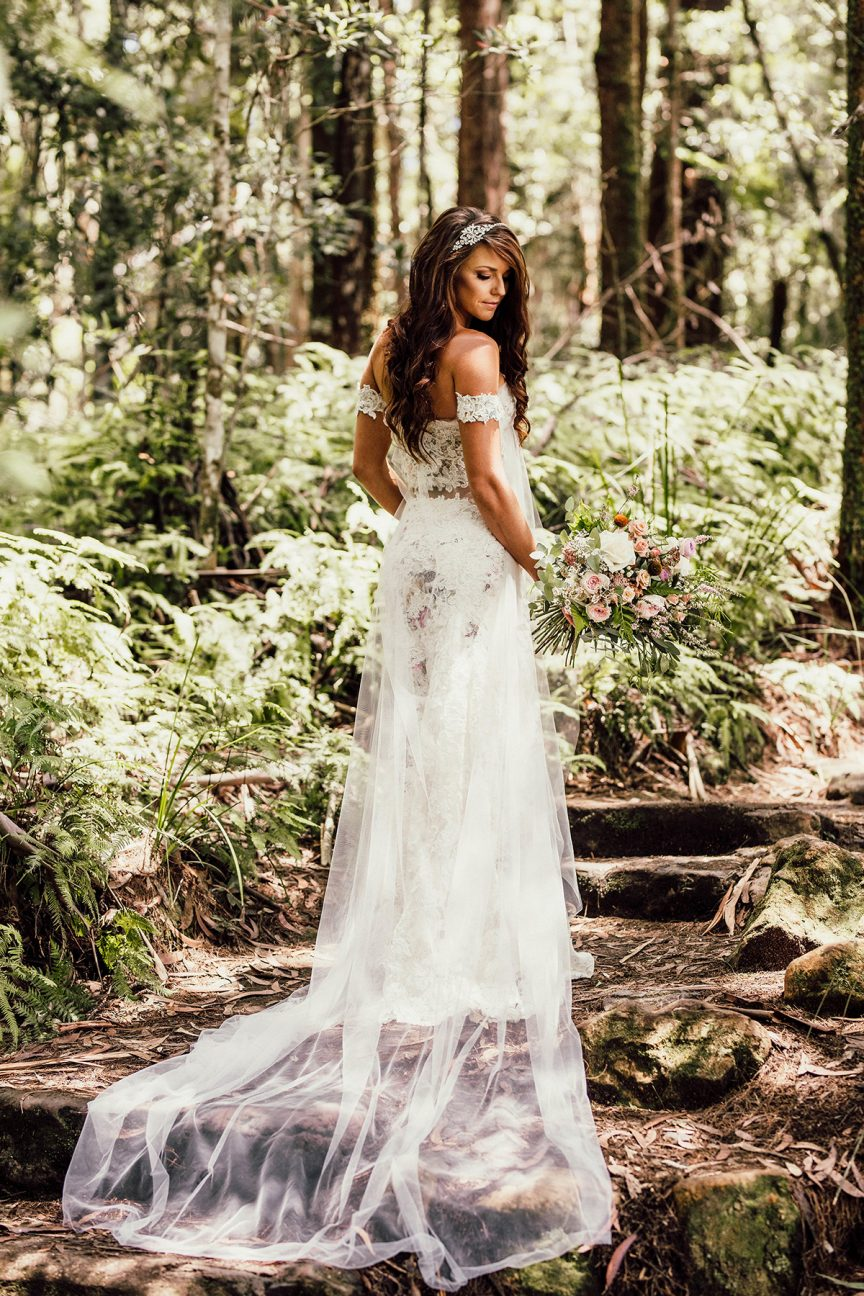 Bride in rainforest