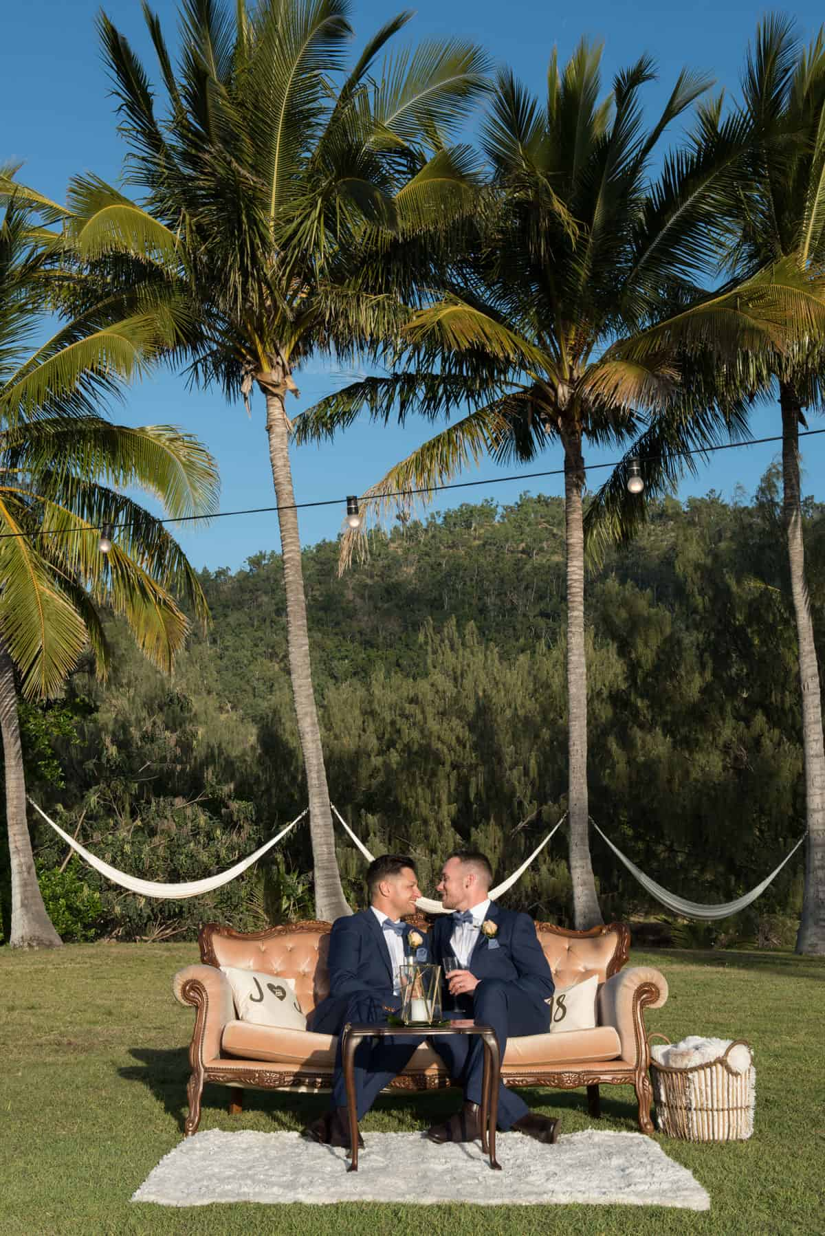 Josh and Josh Whitsunday wedding