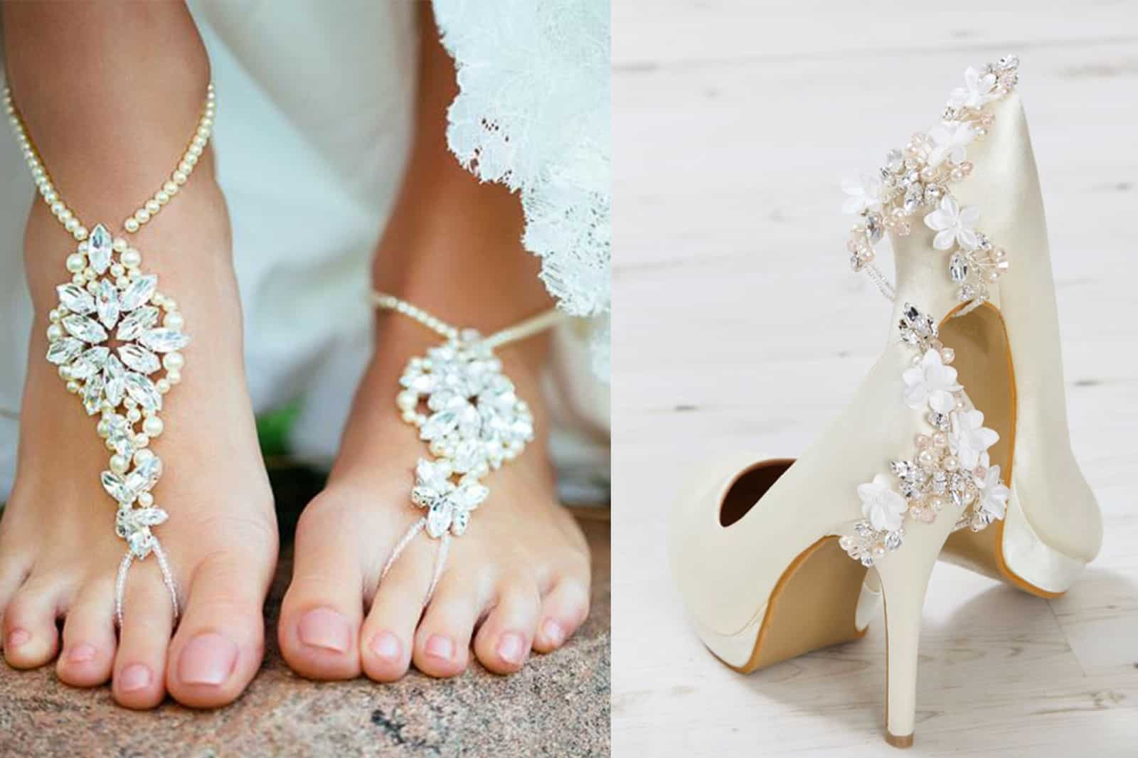 head to toe jewels bridal jewellery sandals and shoes