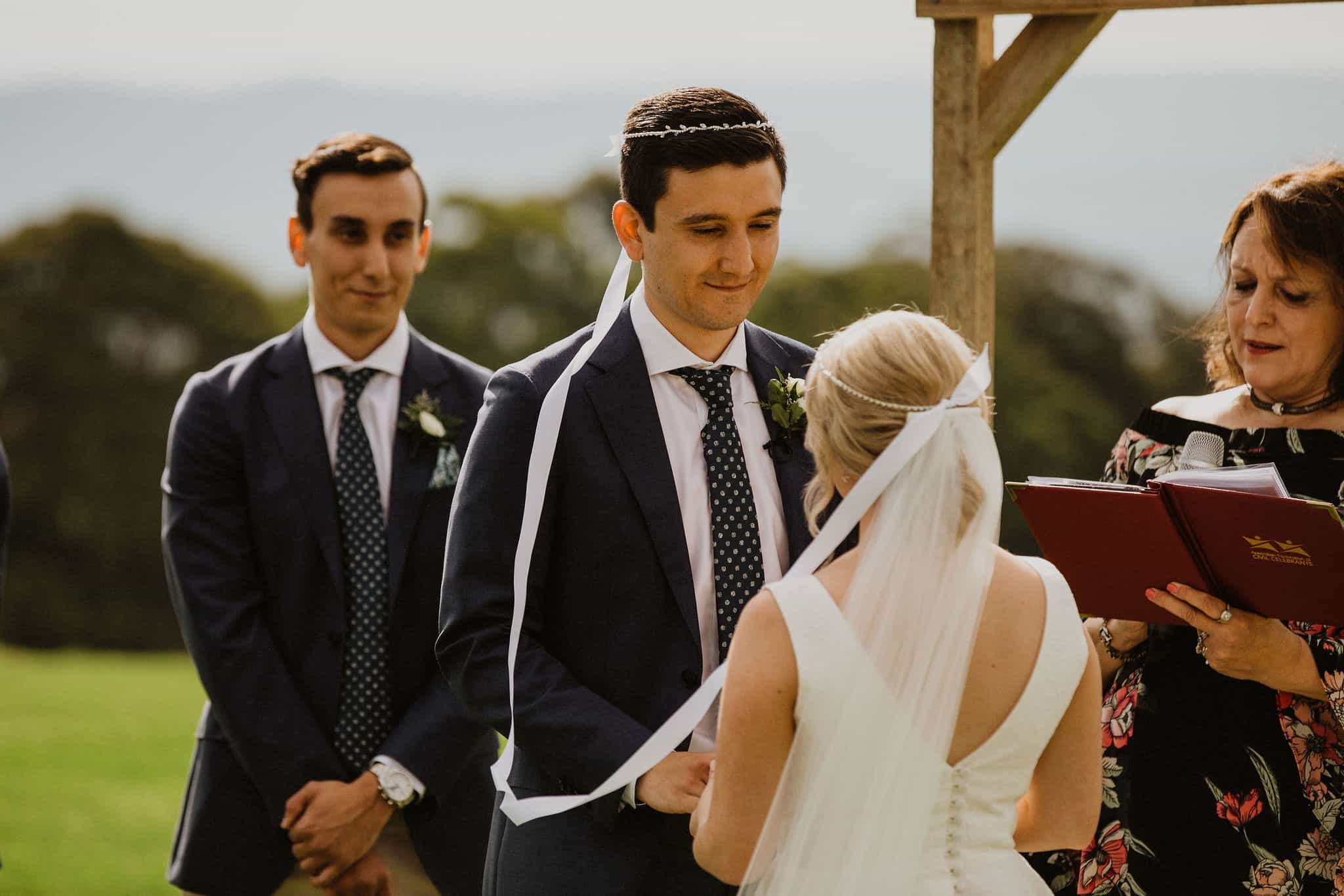 Rebecca and Dean incorporated Greek Orthodox traditions into their wedding ceremony