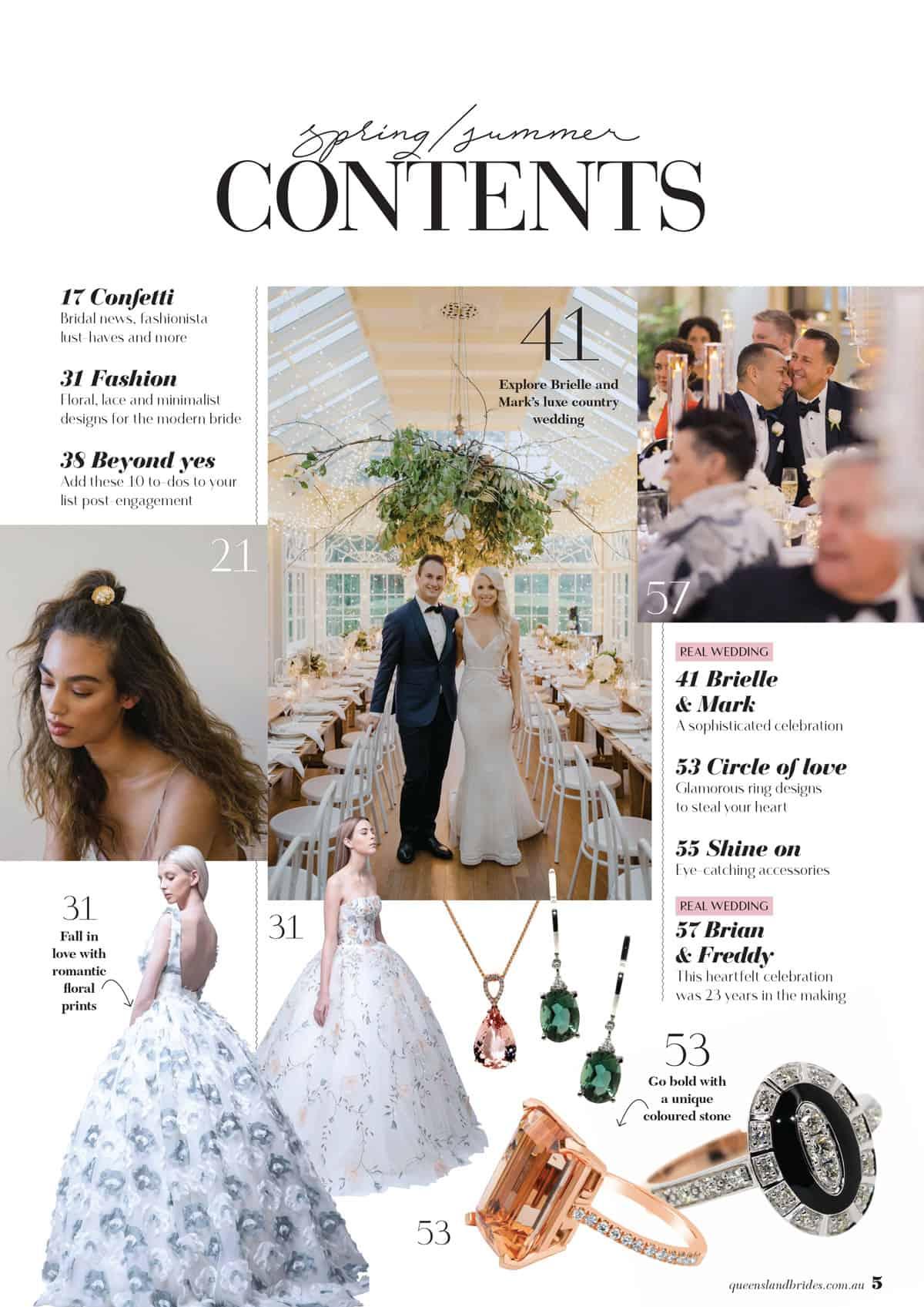 Queensland Brides Spring / Summer 2019 edition