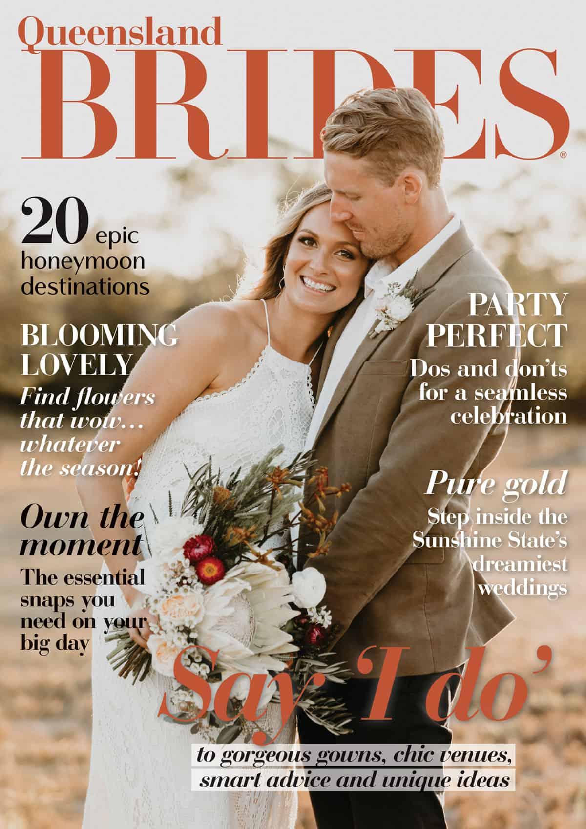 2020 edition of Queensland Brides magazine