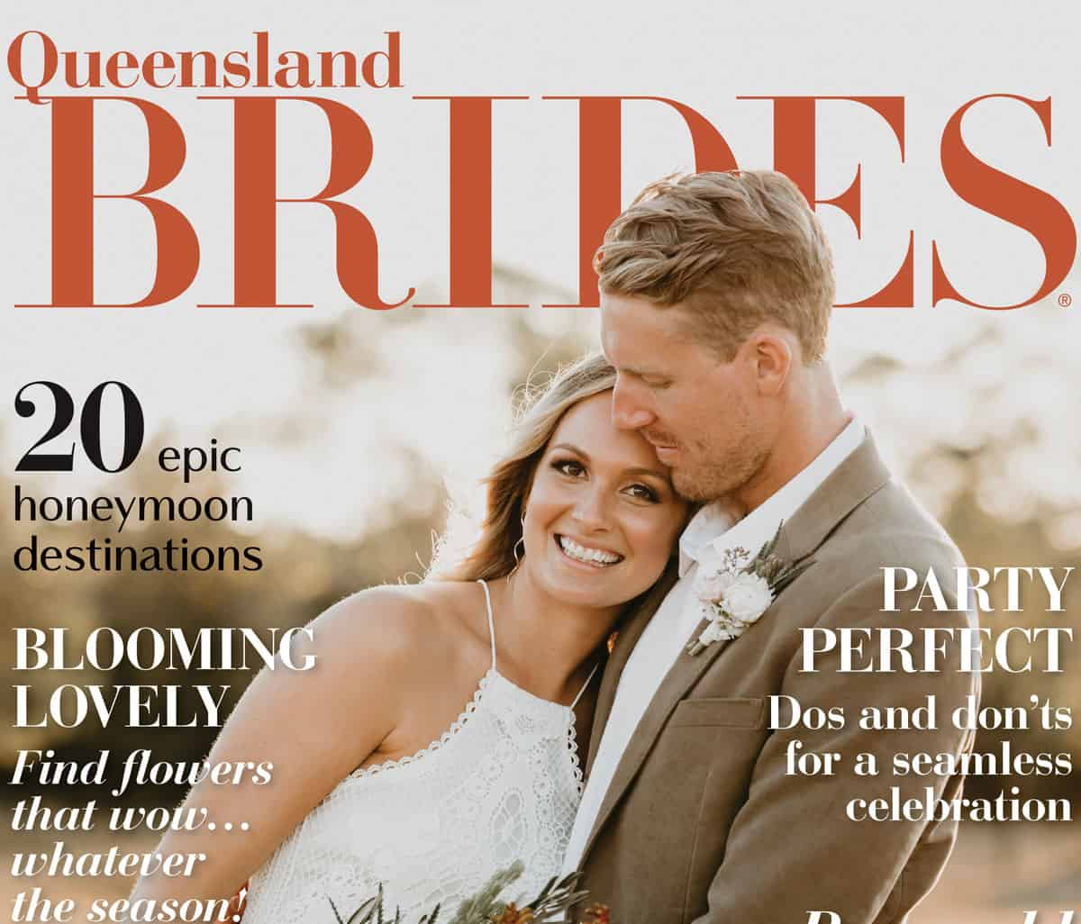 2020 edition of Queensland Brides magazine