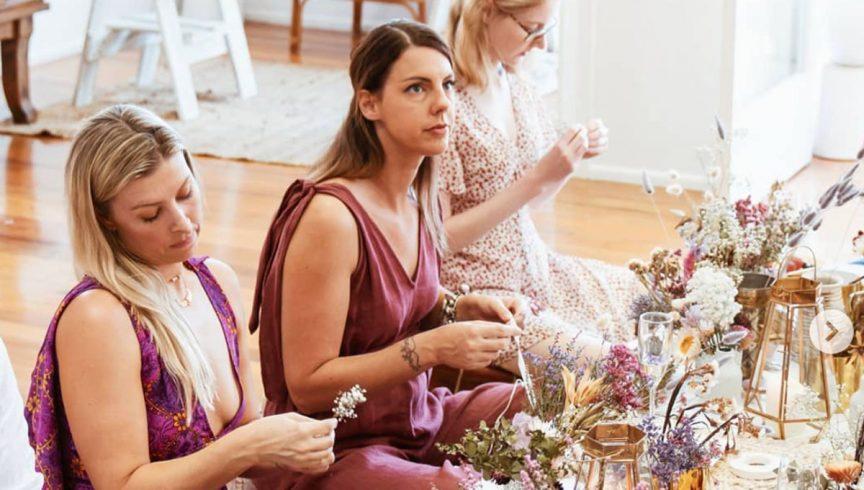 Floral workshops at the Brisbane Wedding Expo