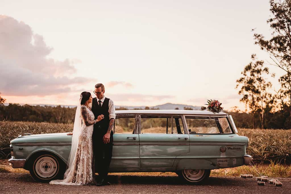Taryn and Trent and their Sunshine Coast Hinterland wedding