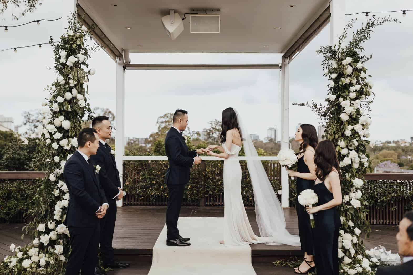 Victoria Park Wedding ceremony