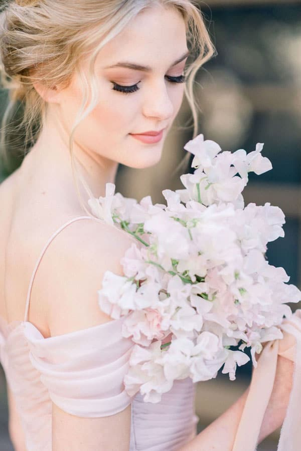 sweet pea bridal bouquet